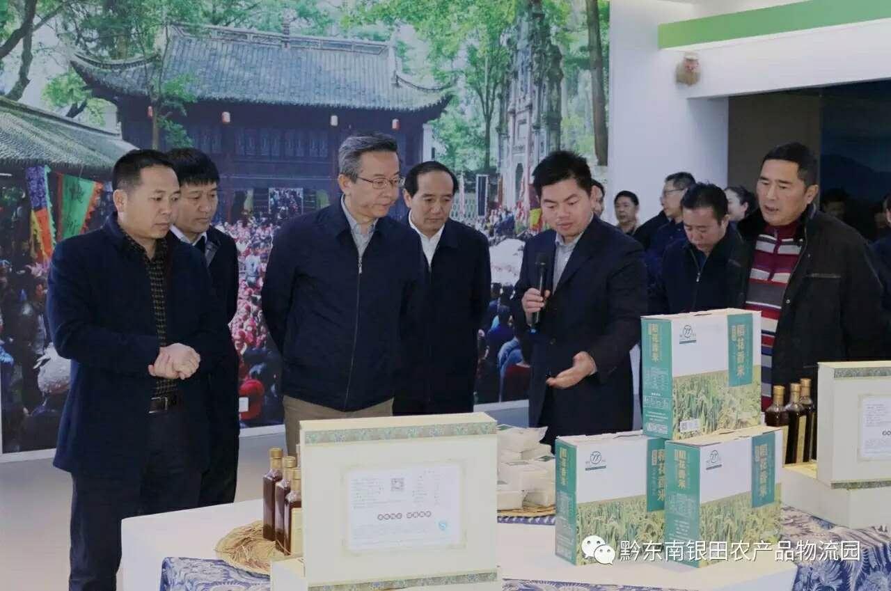 贵州省卢雍政副省长一行莅临黔东南银田农产品物流园调研